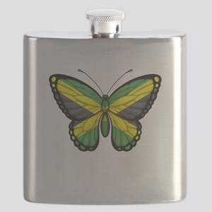 Jamaican Flag Butterfly Flask