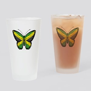 Jamaican Flag Butterfly Drinking Glass