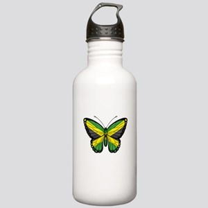 Jamaican Flag Butterfly Water Bottle