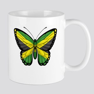 Jamaican Flag Butterfly Mugs