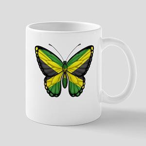 Jamaican Flag Butterfly Mugs