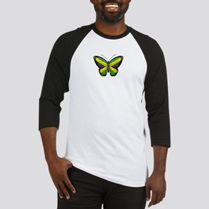 Jamaican Flag Butterfly Baseball Jersey