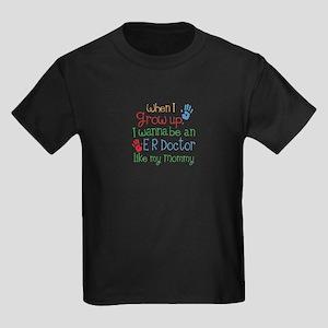 ER Doctor Like Mommy Kids Dark T-Shirt