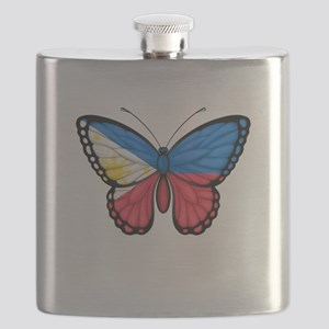 Filipino Flag Butterfly Flask