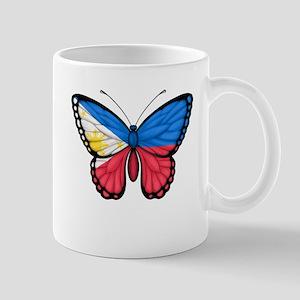 Filipino Flag Butterfly Mugs