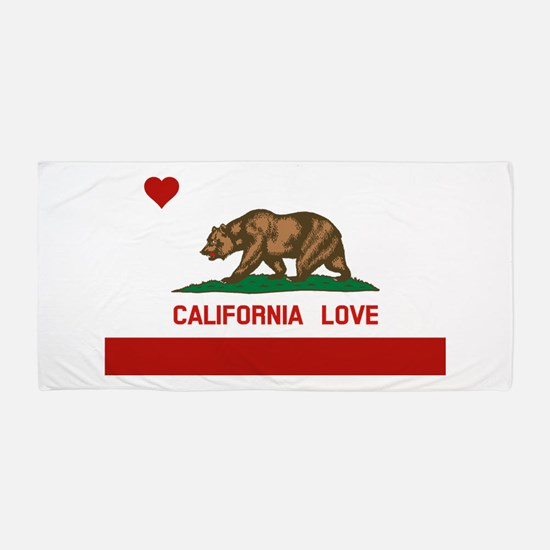 Cute California flag Beach Towel