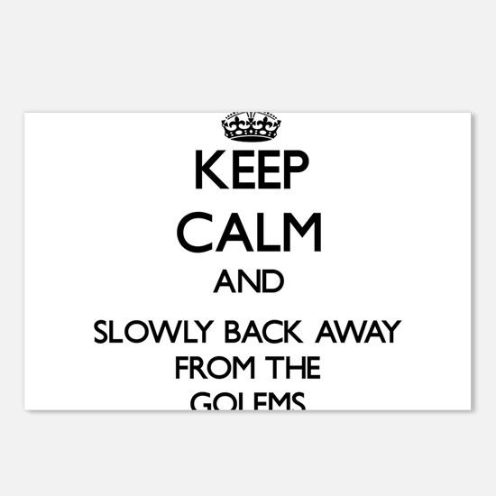 Keep calm and slowly back away from Golems Postcar