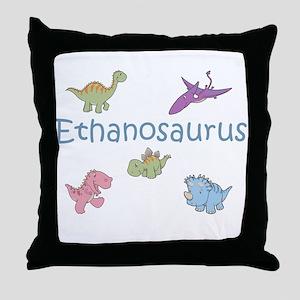 Ethanosaurus Throw Pillow