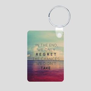 Inspirational Quote  Aluminum Photo Keychain