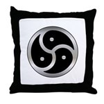 BDSM triskelion Throw Pillow