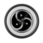 BDSM triskelion Large Wall Clock