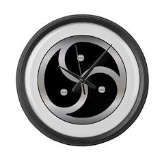 BDSM triskelion Large Wall Clock