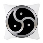 BDSM triskelion Woven Throw Pillow