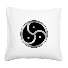 BDSM triskelion Square Canvas Pillow
