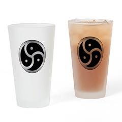 BDSM triskelion Drinking Glass