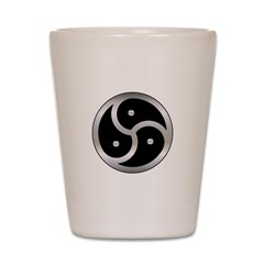 BDSM triskelion Shot Glass