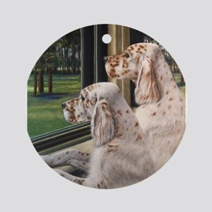 English Setter Puppies Ornament (Round)