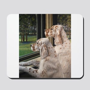 English Setter Puppies Mousepad