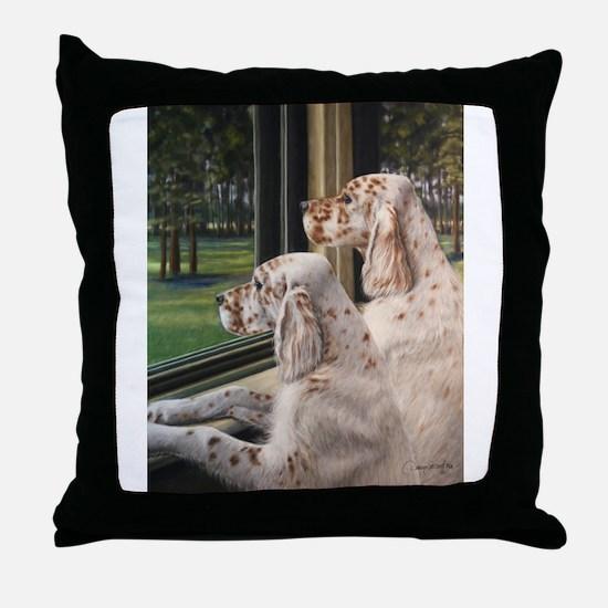 English Setter Puppies.JPG Throw Pillow
