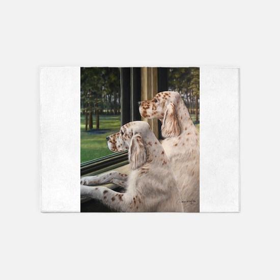 English Setter Puppies.JPG 5'x7'Area Rug