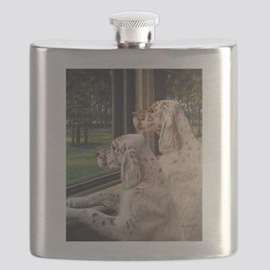 English Setter Puppies Flask