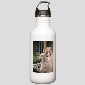 English Setter Puppies Water Bottle