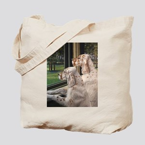 English Setter Puppies Tote Bag