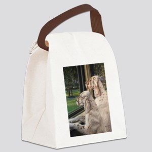 English Setter Puppies Canvas Lunch Bag