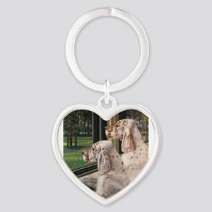 English Setter Puppies Keychains