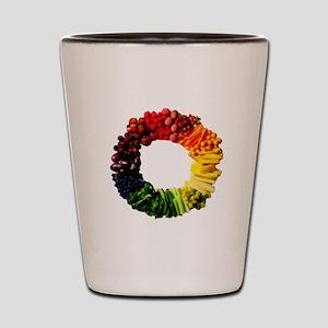 Circle of Fruit n Veg Shot Glass