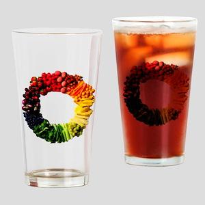 Circle of Fruit n Veg Drinking Glass