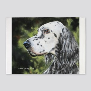 English Setter by Dawn Secord 5'x7'Area Rug