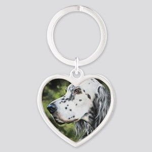 English Setter by Dawn Secord Keychains