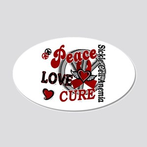 Sickle Cell Anemia PeaceLove 20x12 Oval Wall Decal