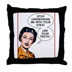 Undressing me Throw Pillow