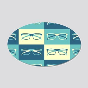 Hipster Glasses Wall Decal