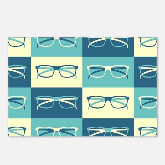 Hipster Glasses Postcards (Package of 8)