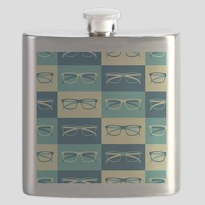 Hipster Glasses Flask