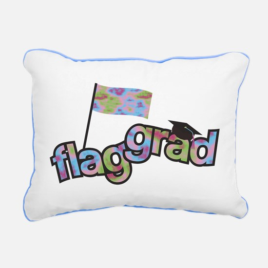 Color Guard Grad Rectangular Canvas Pillow