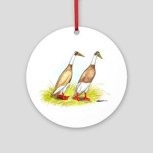 Runner Ducks Ornament (Round)
