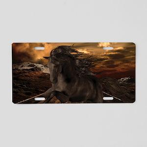 Black Stallion Aluminum License Plate