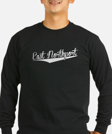 East Northport, Retro, Long Sleeve T-Shirt