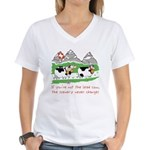 The Lead Cow Women's V-Neck T-Shirt