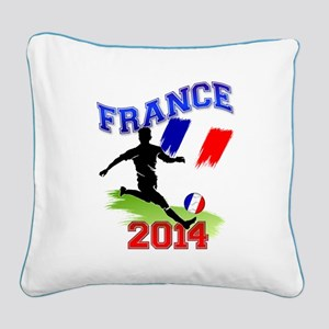 Soccer FRANCE Flag Square Canvas Pillow