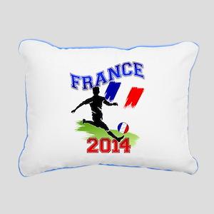 Soccer FRANCE Flag Rectangular Canvas Pillow