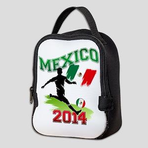 Soccer MEXICO Flag Neoprene Lunch Bag