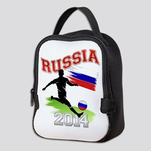 Soccer RUSSIA Flag Neoprene Lunch Bag