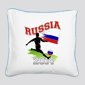 Soccer RUSSIA Flag Square Canvas Pillow