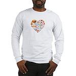 Italy World Cup 2014 Heart Long Sleeve T-Shirt