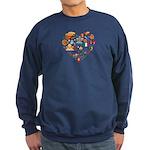 Italy World Cup 2014 Heart Sweatshirt (dark)